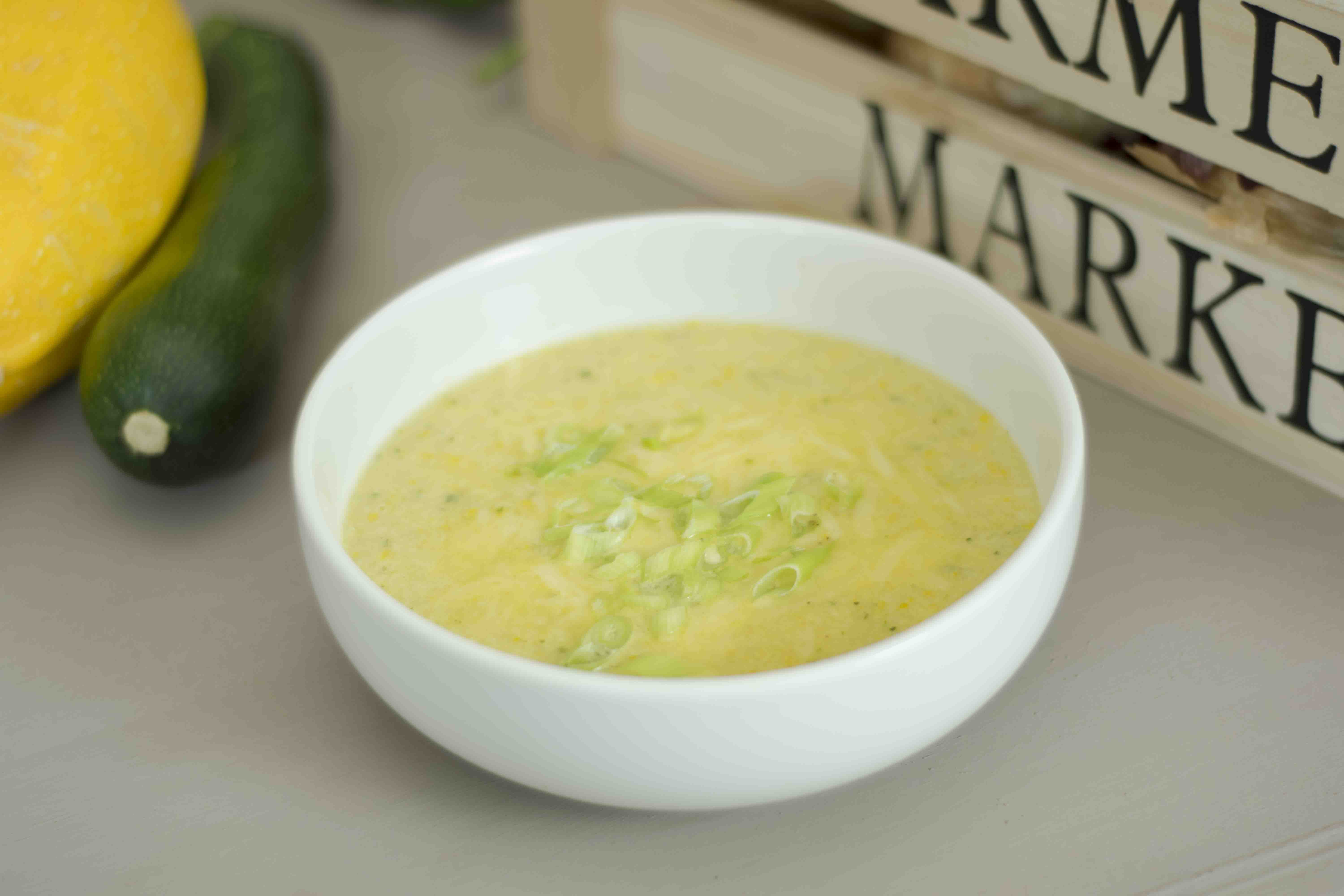 courgette and cheese soup