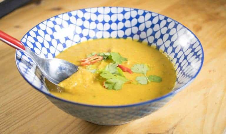 coconut and pumpkin soup