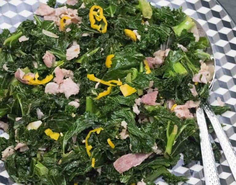 Curly Kale Recipe - with Habanero Chili Pepper