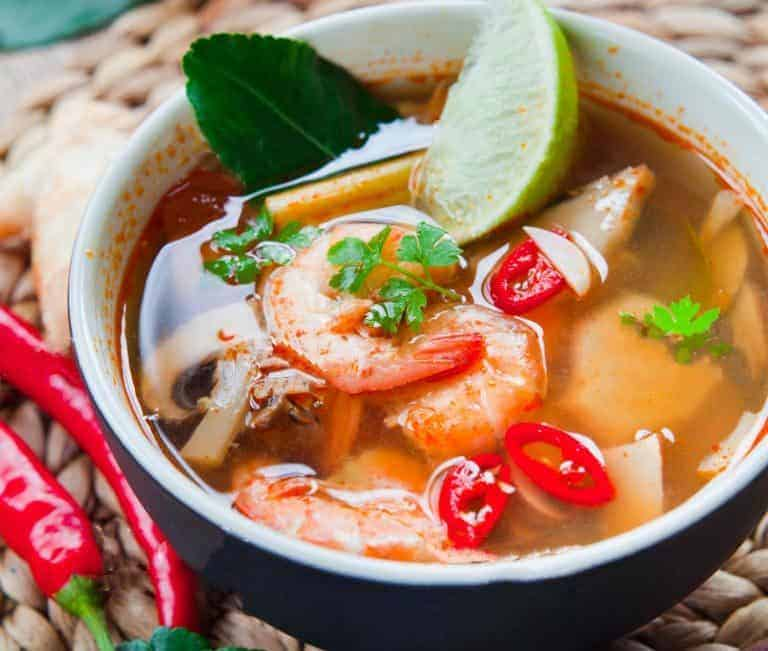easy tom yum soup recipe with homemade tom yum soup paste