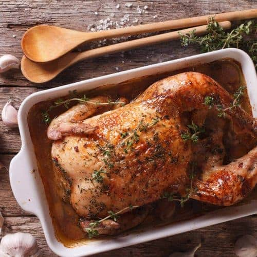 Garlic Roast Chicken with Lemon and Thyme