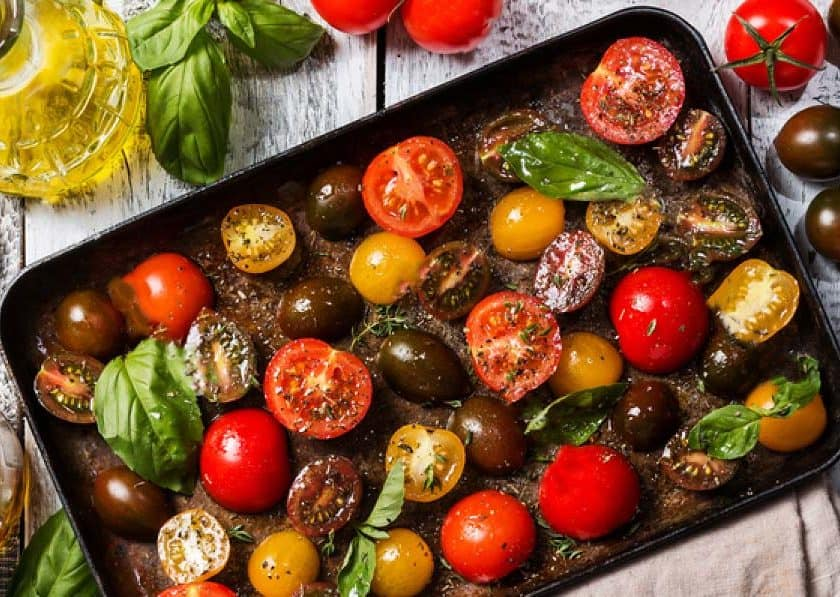 baked balsamic tomatoes