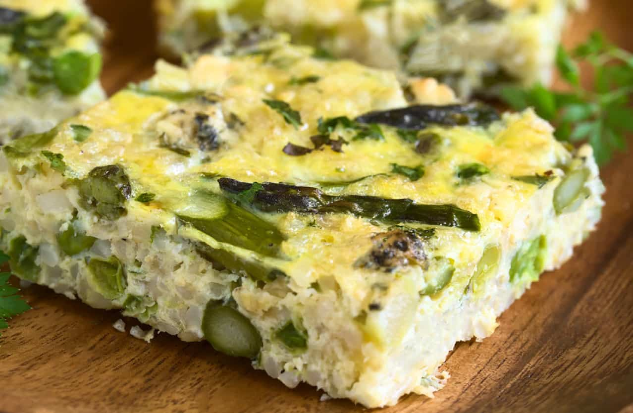 Summer Vegetable Frittata with Asiago Cheese
