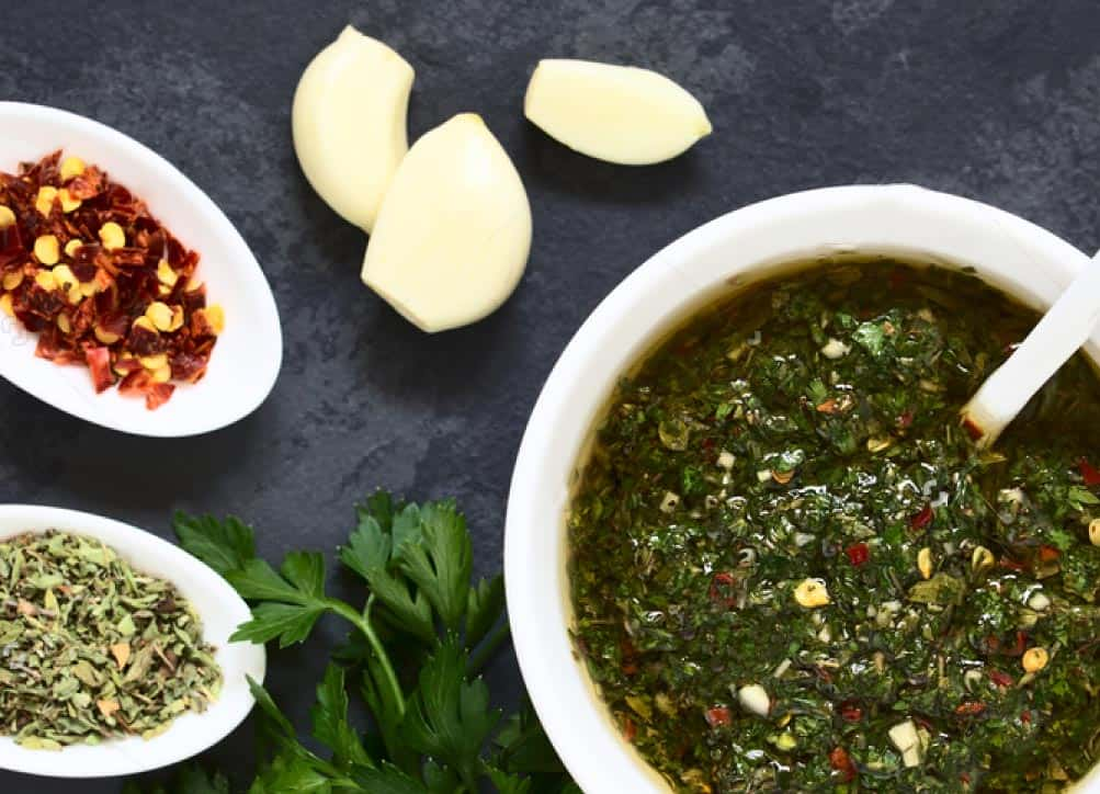 green chimichurri sauce recipe