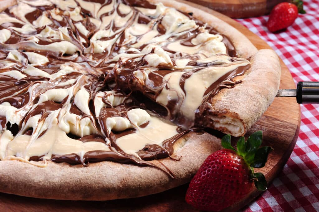Cream Egg Pizza