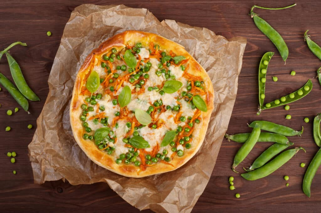 Pea Pizza - Weird Pizzas